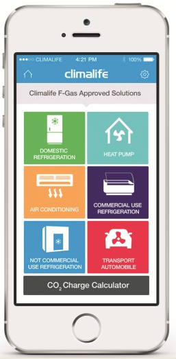 Climalife mobile app FGas Solutions