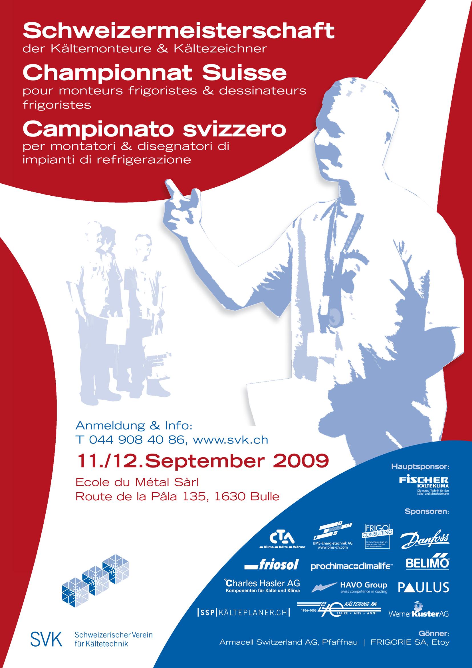 Plakett Schweizermeisterschaften für Kältemonteure/innen 2009